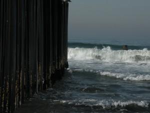"""The Border Wall at """"Friendship Beach"""""""